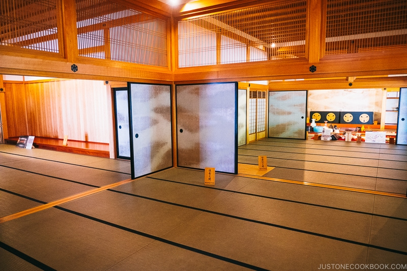 reconstructed Nagasaki Magistrate's Office rooms with sliding doors