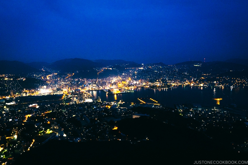 Nagasaki view from Mt. Inasayama Observatory