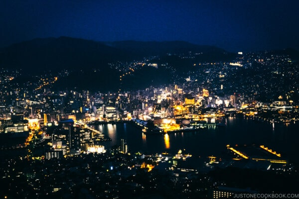 Nagasaki night view from Mt. Inasayama Observatory