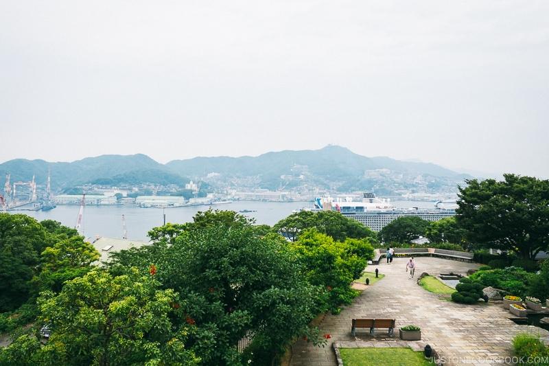 view of Nagasaki Bay from Glover Garden