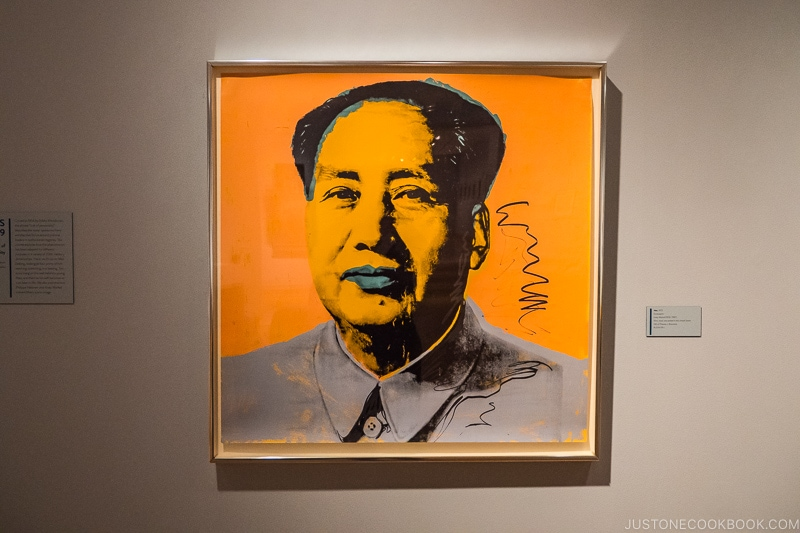 Mao by Andy Warhol framed on the wall