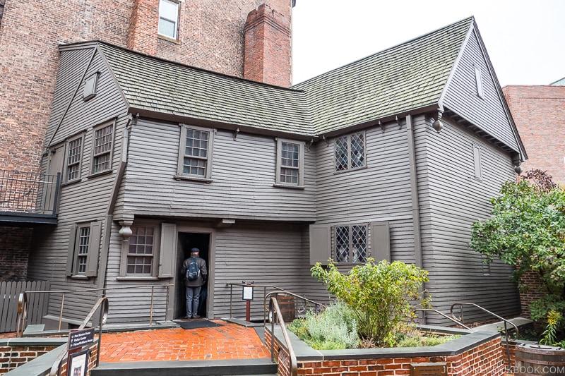 exterior of Paul Revere House in Boston