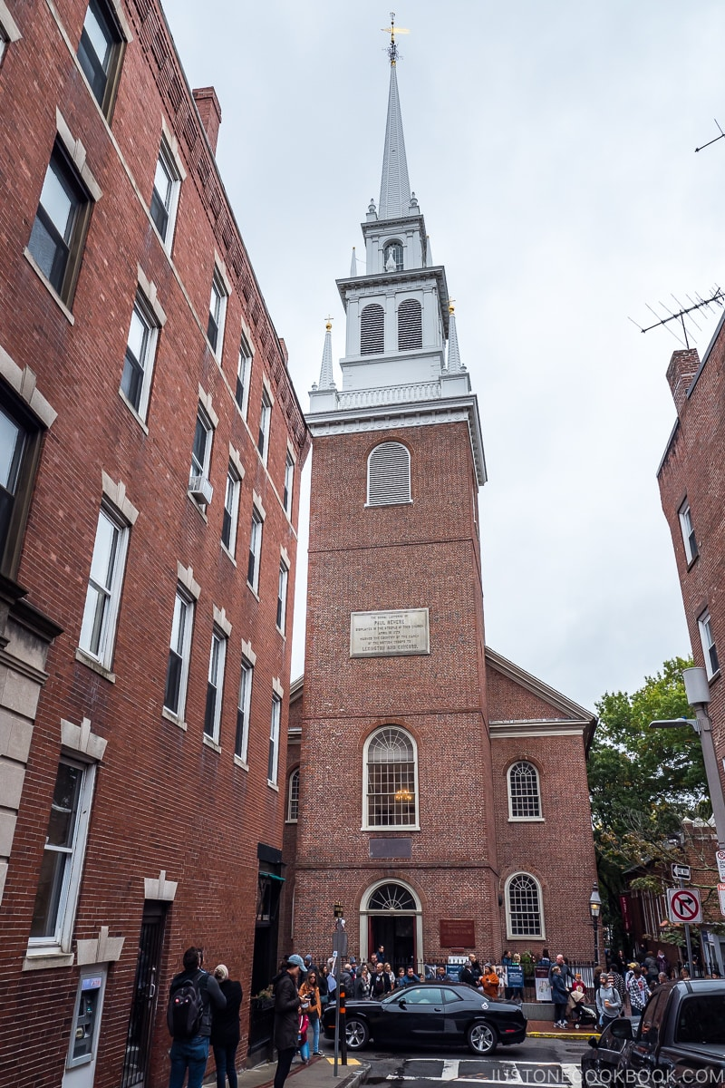 exterior of Old North Church in Boston