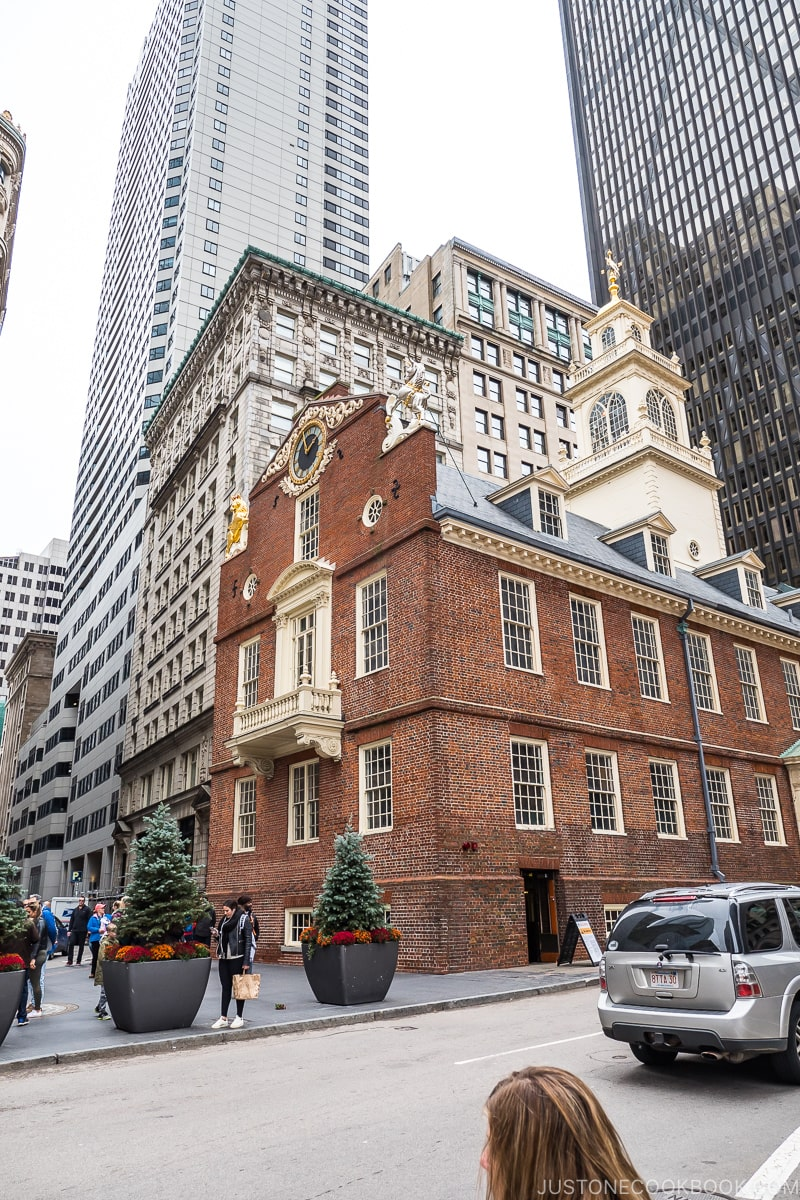 exterior of Old State House a three story brick building