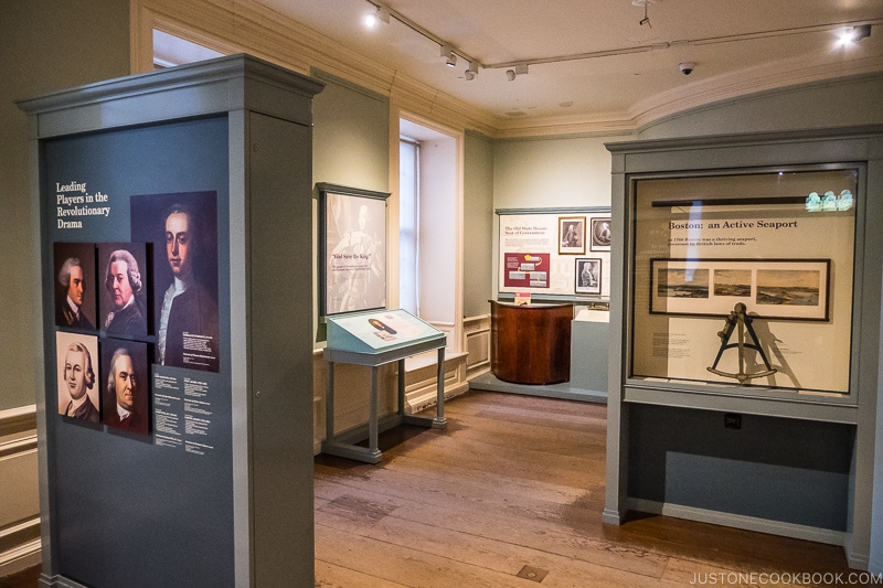 exhibition inside Old State House