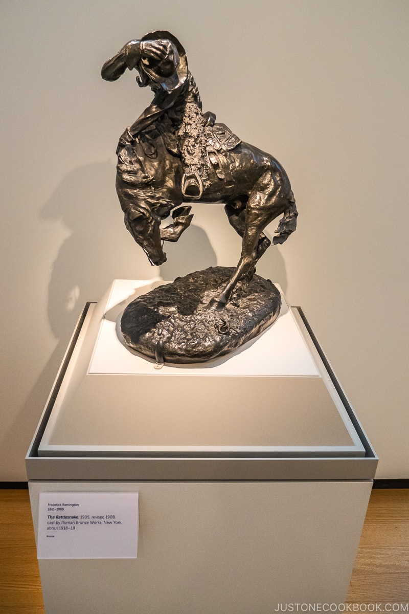 the rattlesnake bronze sculpture by Frederic Remington