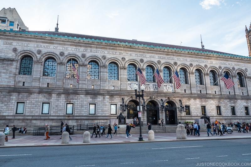 exterior of Boston Public Library