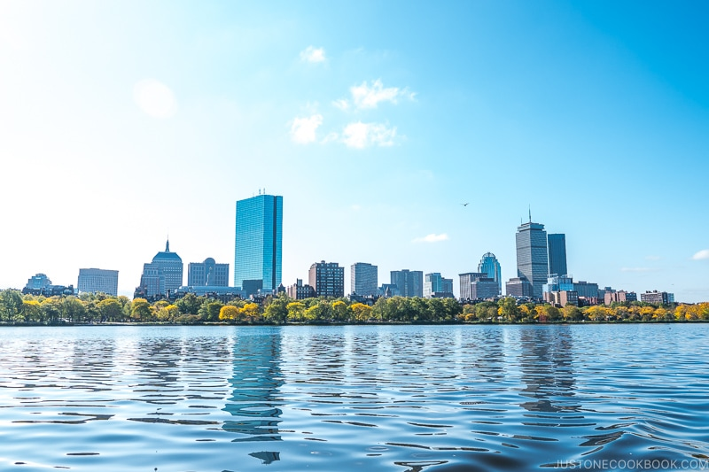 view of Boston from Charles River