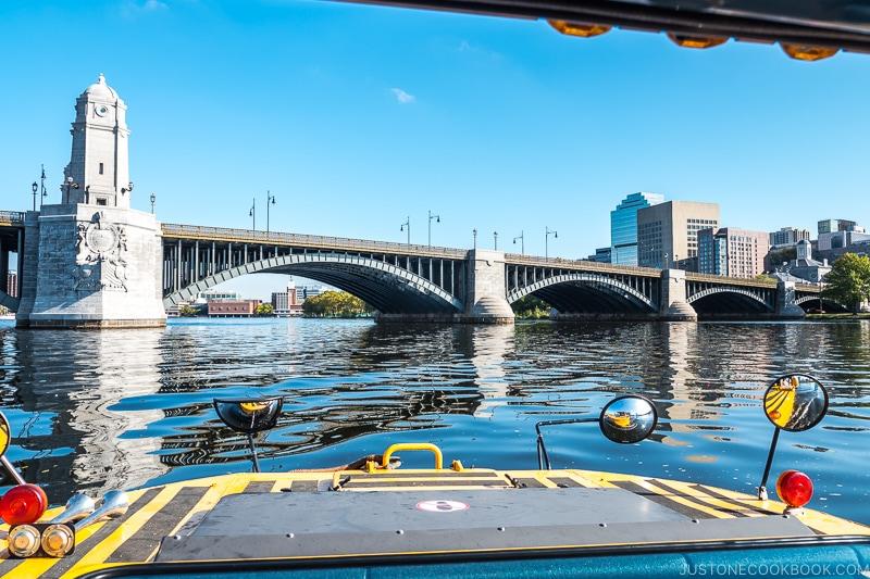 view of Longfellow Bridge from Charles River