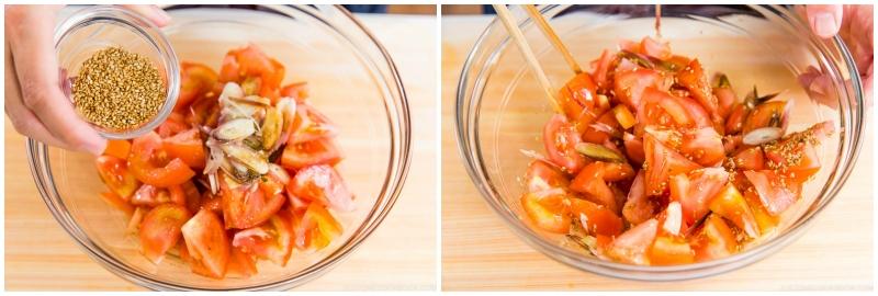 Tomato Myoga Salad 4