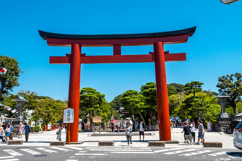 large red torii gate