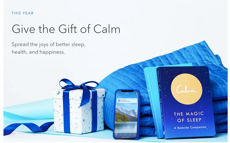 Calm App Gift Page