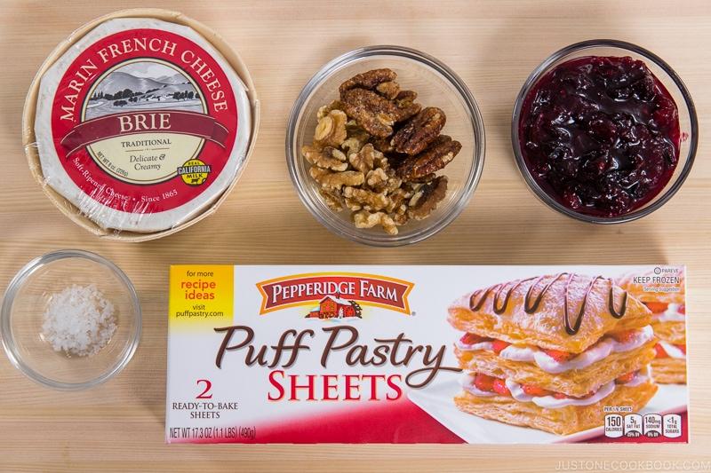 Cranberry Brie Bites Ingredients