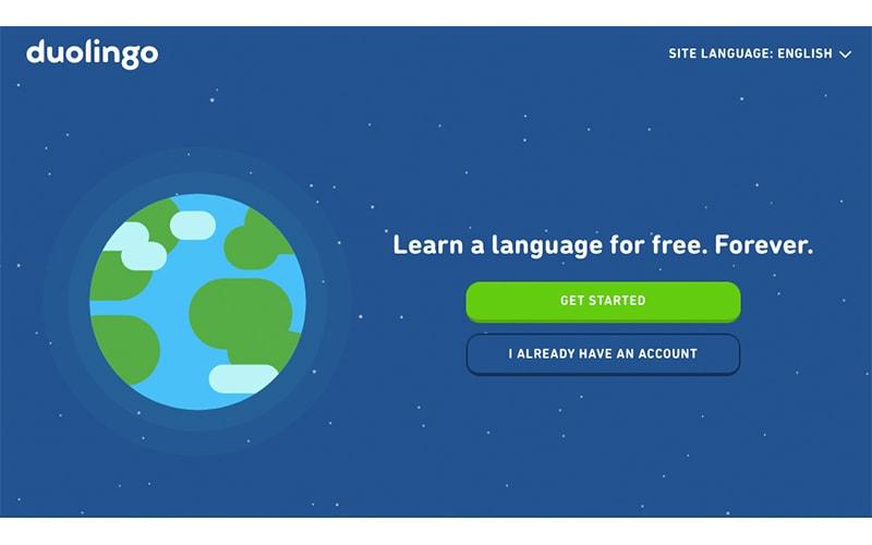 Duolingo App Homepage