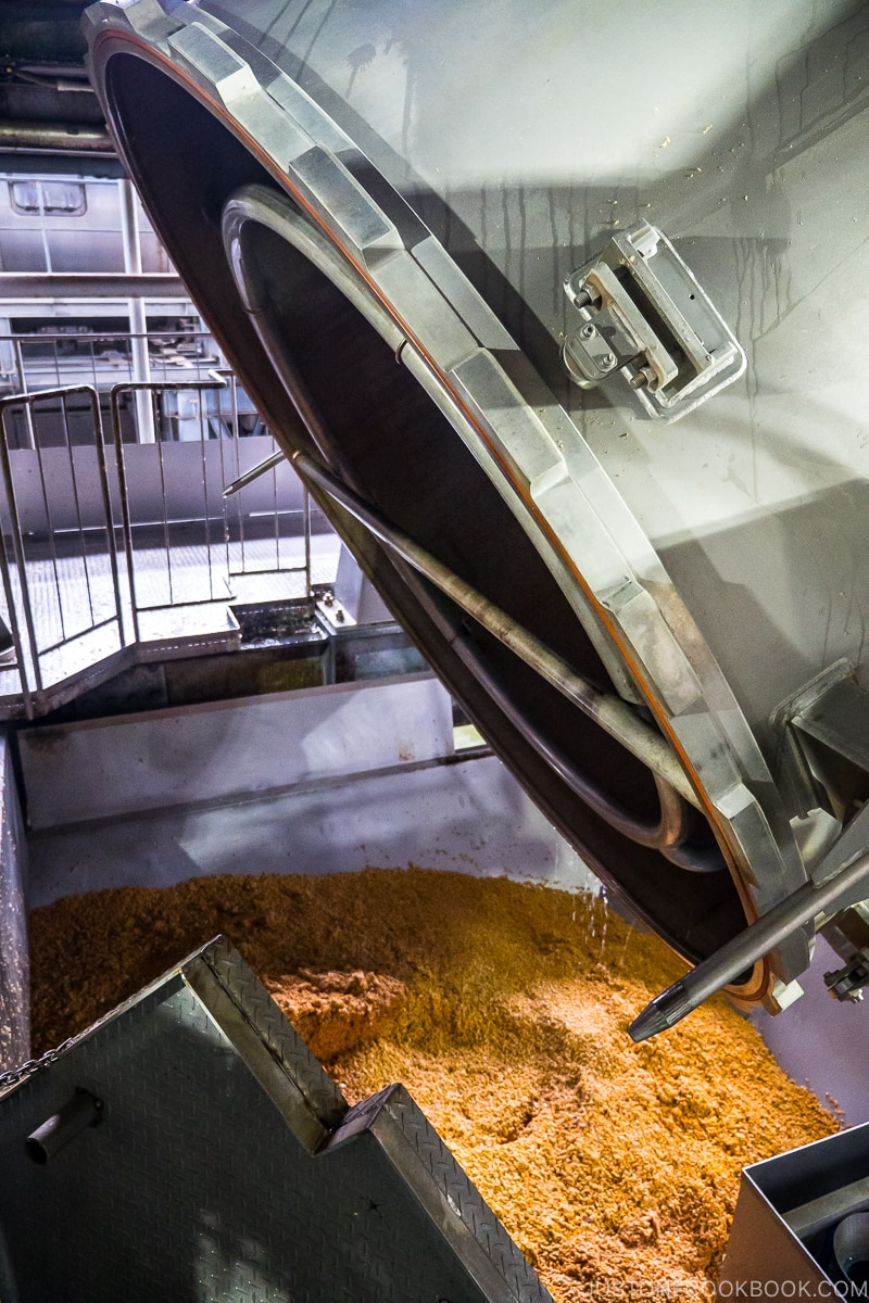 soy bean being mixed
