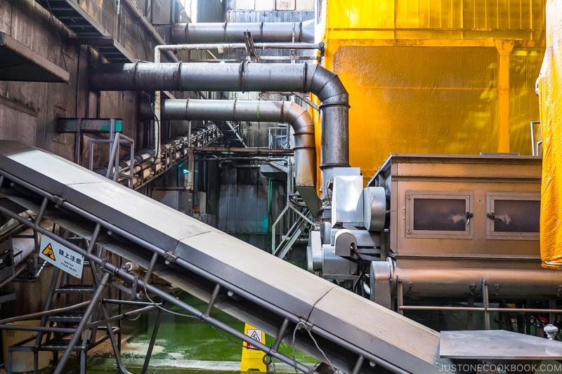 multi-level machines inside factory