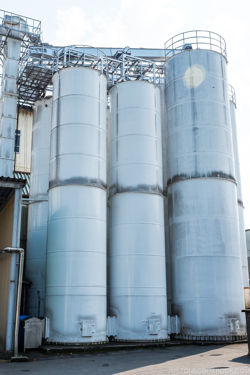 silos containing soybeans