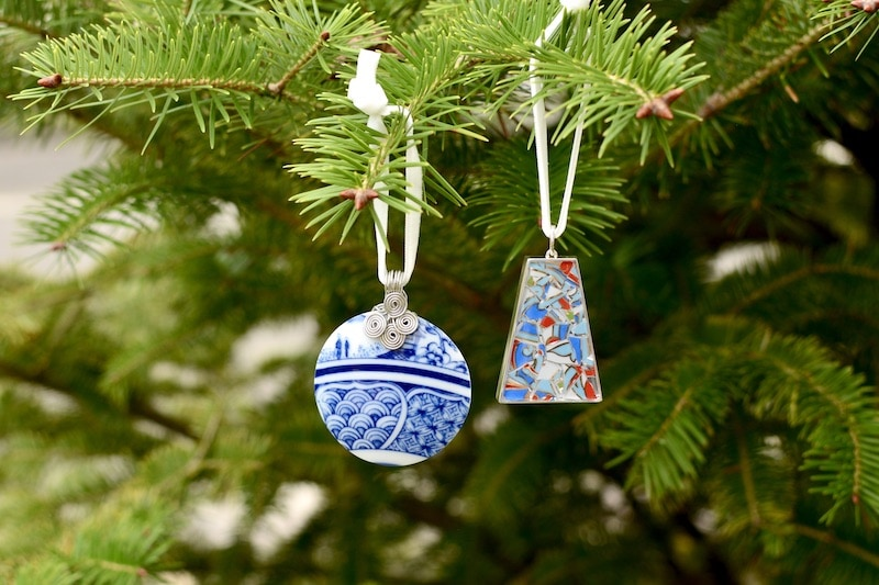 Nozomi Project Christmas Ornaments hanging on Christmas tree