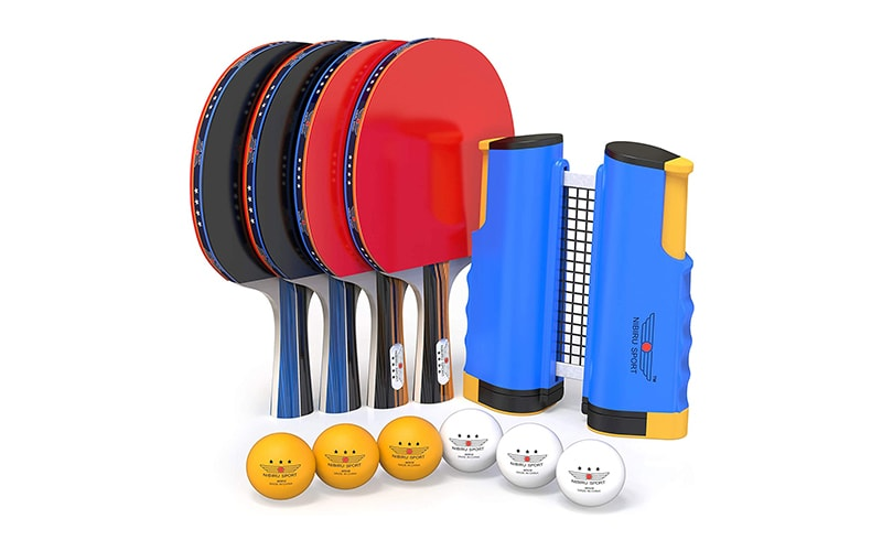 Nibiru Sport Pro Ping Pong Paddle Set with Retractable Net