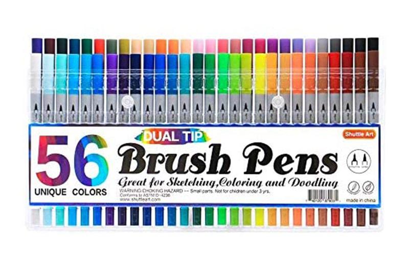 Dual Tip Brush Pens in 56 colors