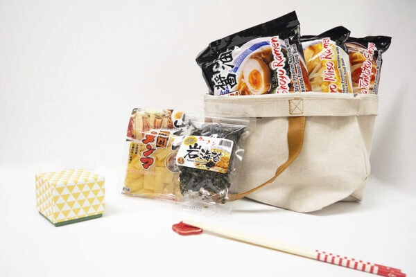 a bundle of Yamachan Ramen Winter Care Package
