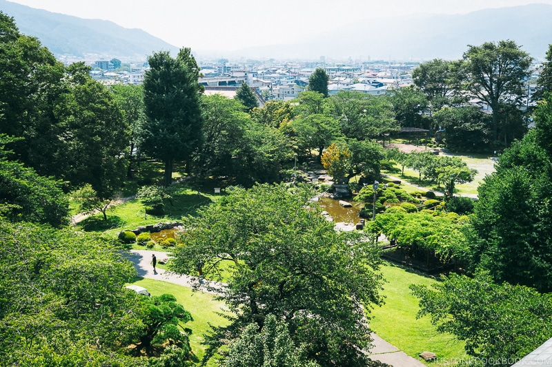 the garden at Takashima Castle