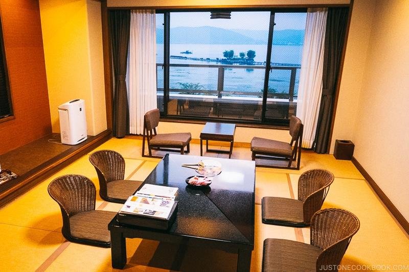 hotel room at Hotel Suhaku in Lake Suwa