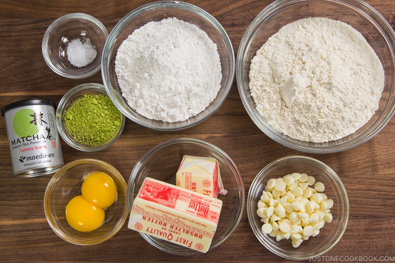 Matcha Cookies Ingredients