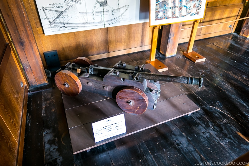 antique cannon on display