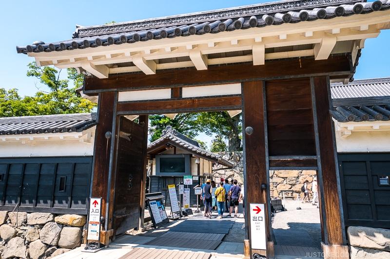 entrance gate to Matsumoto Castle