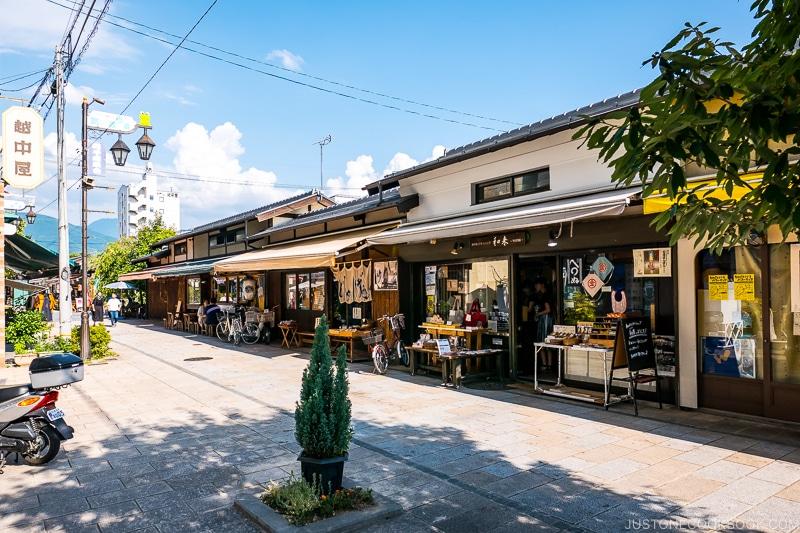 shops on Nawate Street Matsumoto City