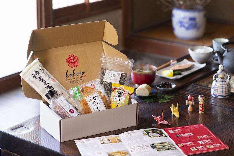 April Sakura & Ume box featuring a variety of sakura flavored food items