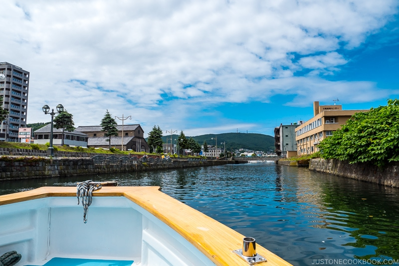 view of Otaru Canal from the cruise