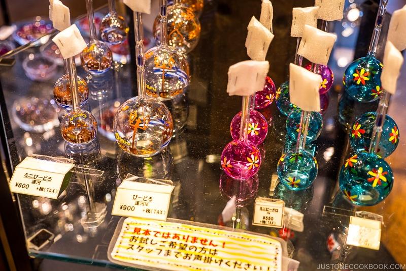 decorative glass vidro on a shelf