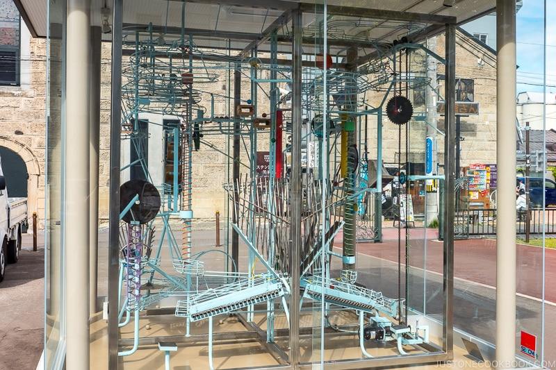 Rube Goldberg machine in Otaru