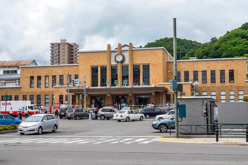 exterior of Otaru train station