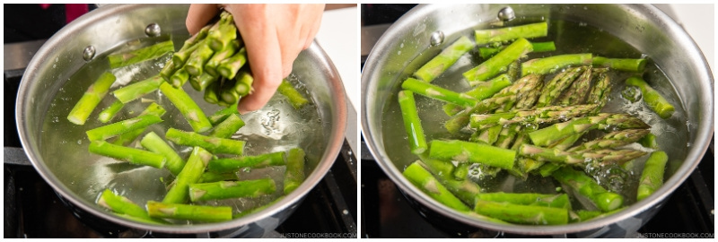 Asparagus with Miso Dressing 4