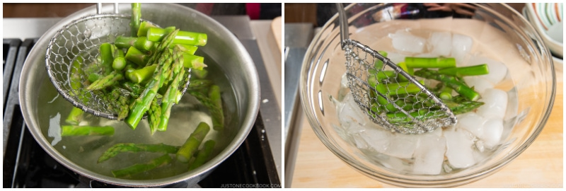 Asparagus with Miso Dressing 5