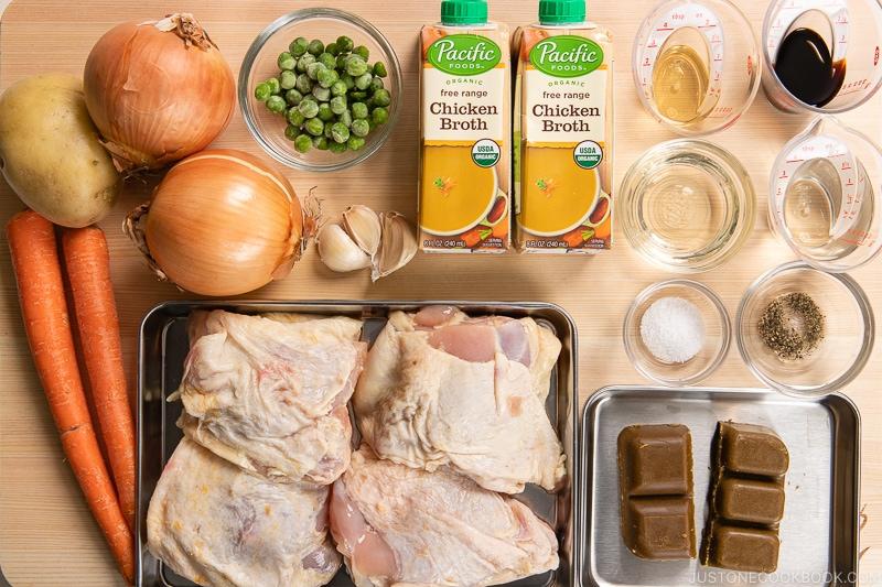 Bone-in Chicken Curry Ingredients