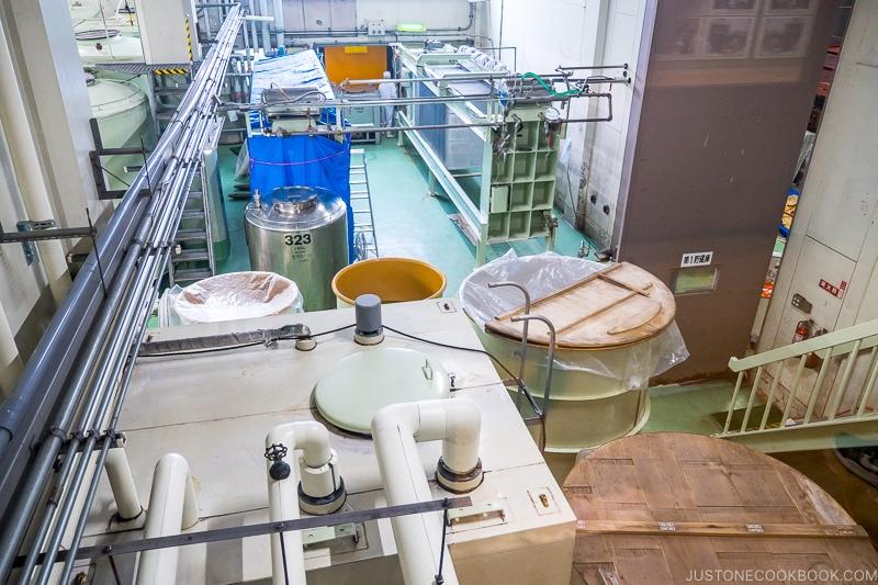 view of sake brewing facility