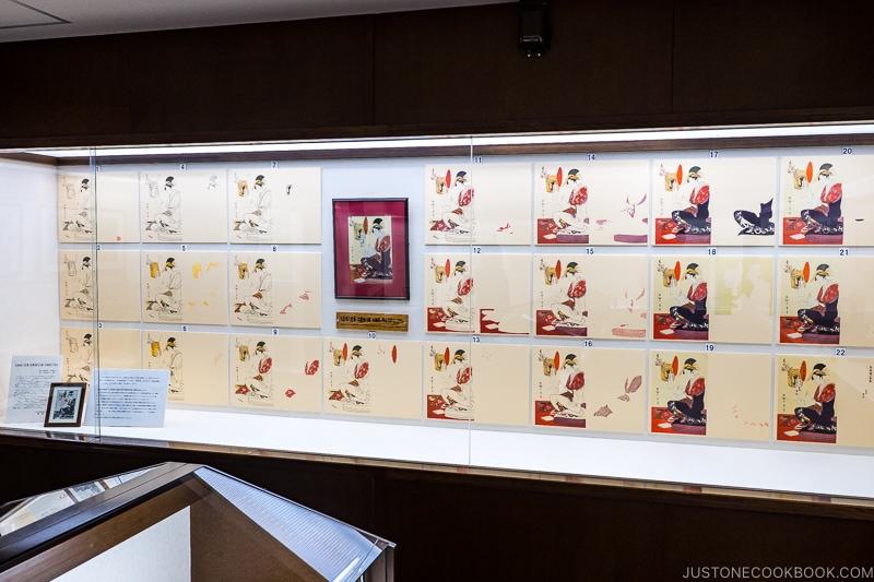 Ukiyo-e print on a wall