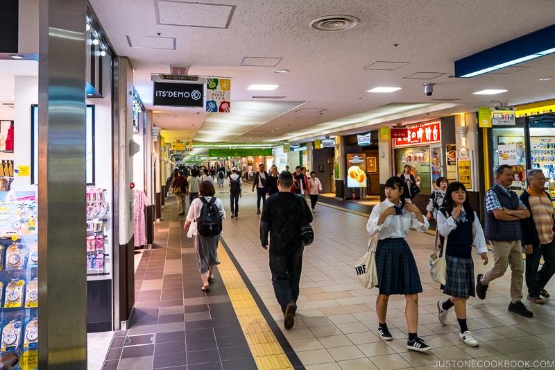 people walking in Sapporo Chikagai