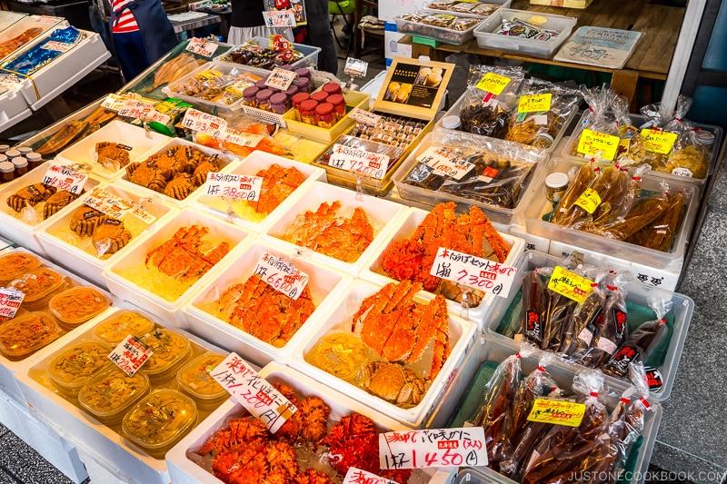 seafood shop at Nijo Market