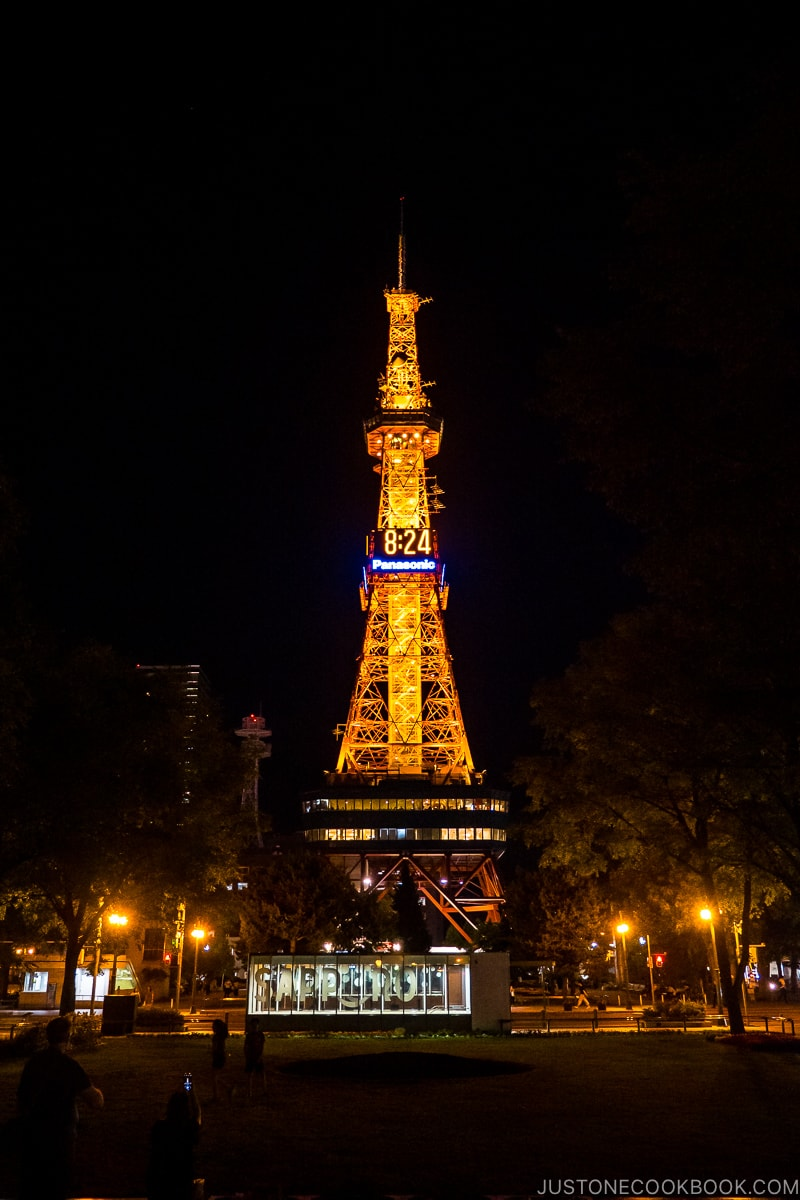 Sapporo TV Tower at night