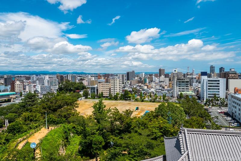 view of Hamamatsu City from top of Hamamatsu Castle