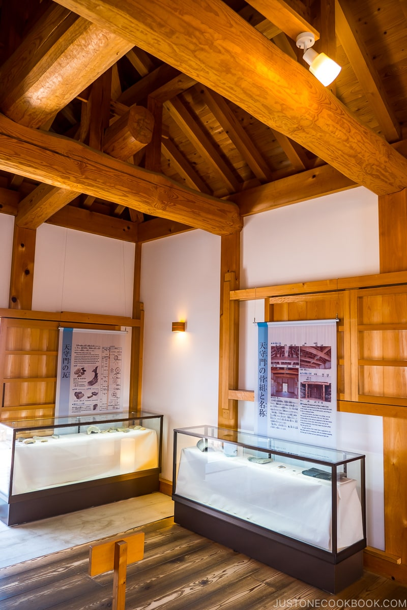 display detailing the reconstruction of Hamamatsu Castle gate