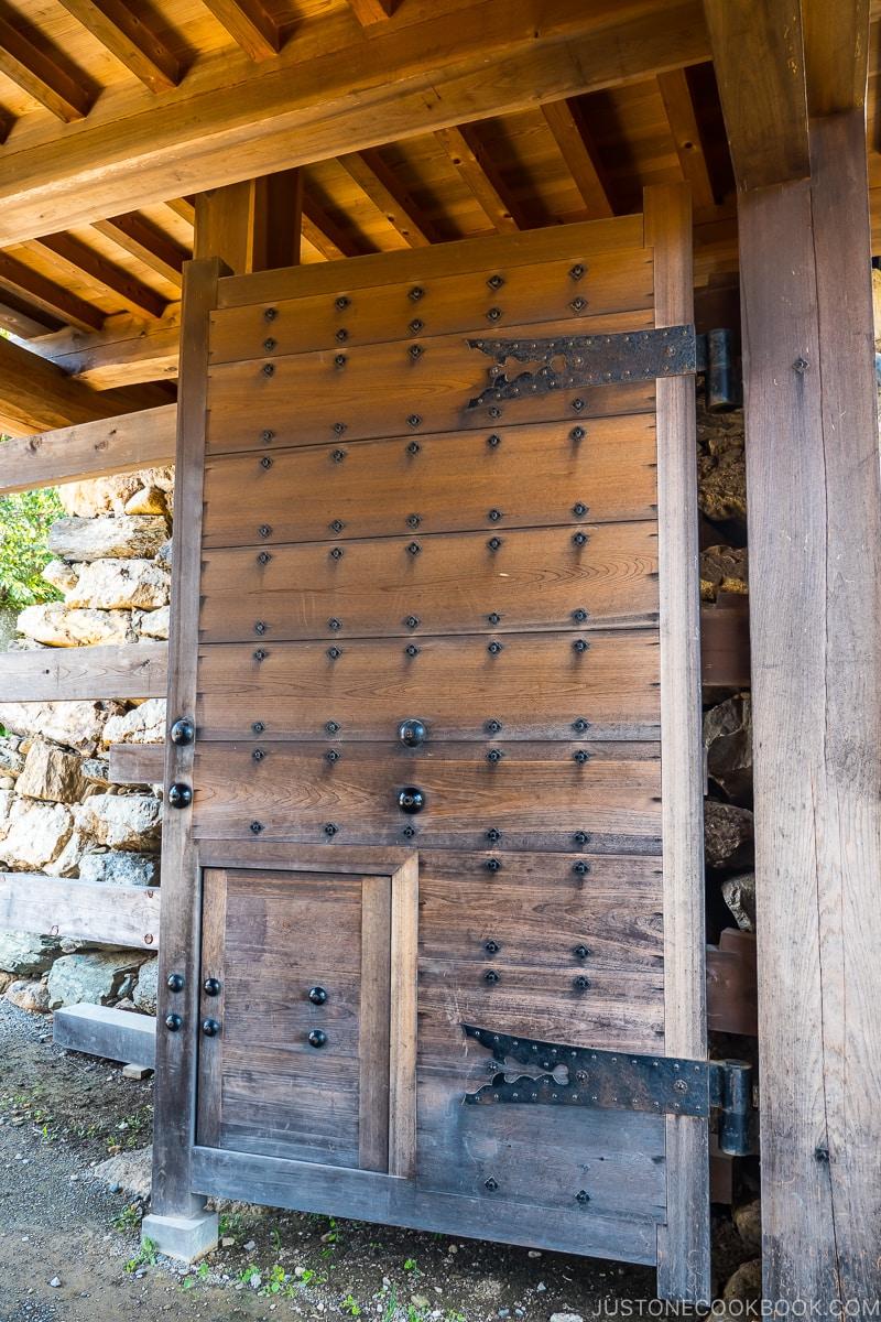 wood entrance gate to Hamamatsu Castle