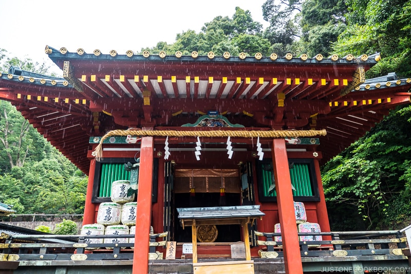 red and gold Hie Shrine