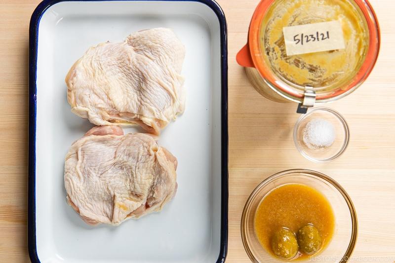 Ume Miso Chicken Ingredients