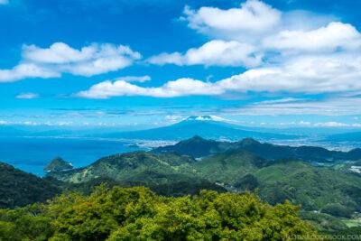 view of Mt. Fuji and Suruga Bay